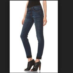 Current Elliott The Rolled Skinny Black Jeans